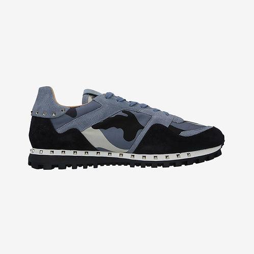 Valentino Camouflage Rockstud Sneakers - Light Grey