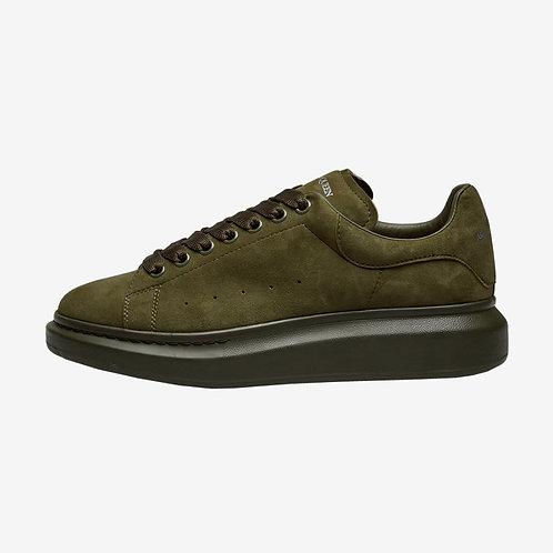 Alexander McQueen Oversized Suede Sneaker Khaki Green