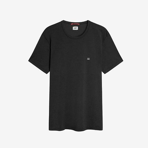 C.P. Company Logo Print Mako T-Shirt - Black