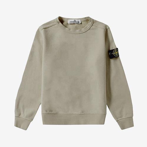 Stone Island Junior Crew Sweatshirt - Taupe Beige