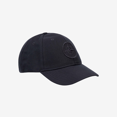 Stone Island Canvas Logo Cap Ink Navy Mens New Fashion