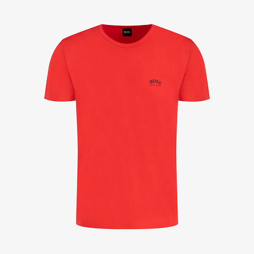 Boss Tee Curved Logo T-Shirt - Coral Red