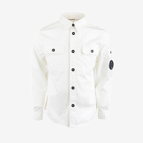 C.P. Company Kids Gabardine Long Sleeve Shirt - White