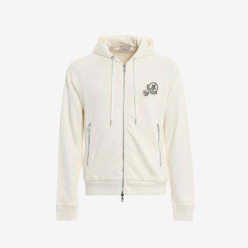 Moncler Hooded Sweatshirt - Ivory/White