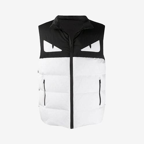 Fendi Bag Bugs Reversible Gilet Bodywarmer White and Black