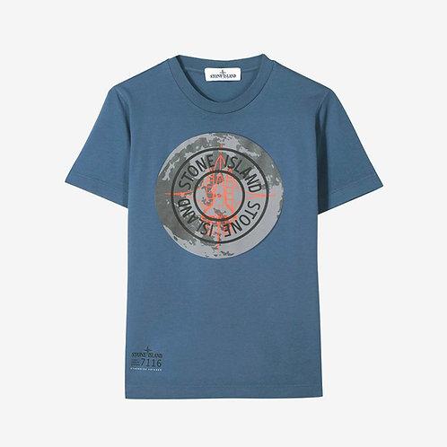 Stone Island Junior Compass T-Shirt - Blue