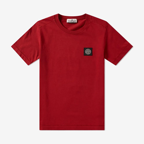 Stone Island Junior Logo Patch T-Shirt - Red