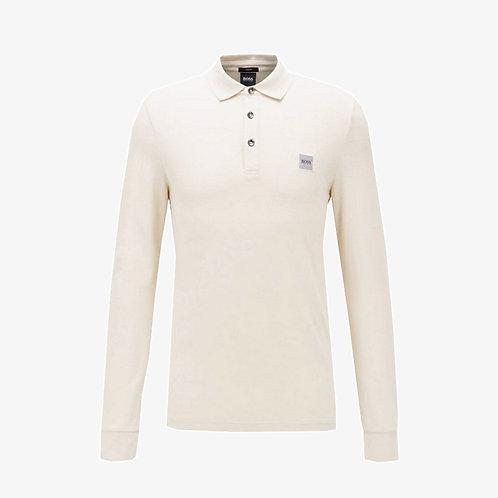 Boss 'Passerby' Slim-Fit Long Sleeve Polo - Beige