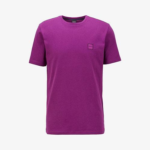 Boss 'Tales' Patch Logo T-Shirt - Purple