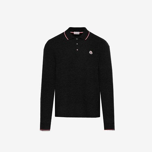 Moncler Long Sleeve Polo Shirt - Black