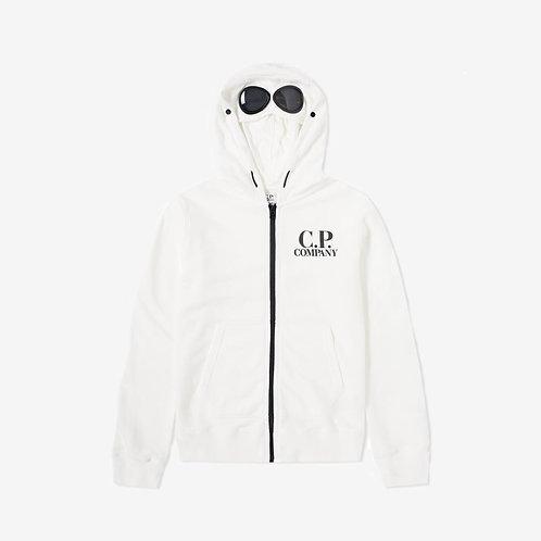 C.P. Company Kids Goggle Zip Hoody - White