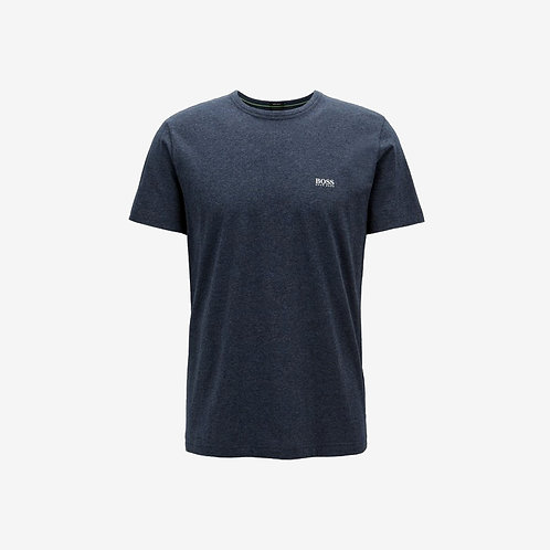 Boss Green T-shirt with White Details - Tee - Navy
