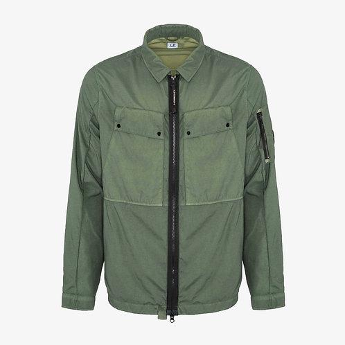 C.P. Company Taylon P Garment Dyed Utility Overshirt - Laurel Wreath Green
