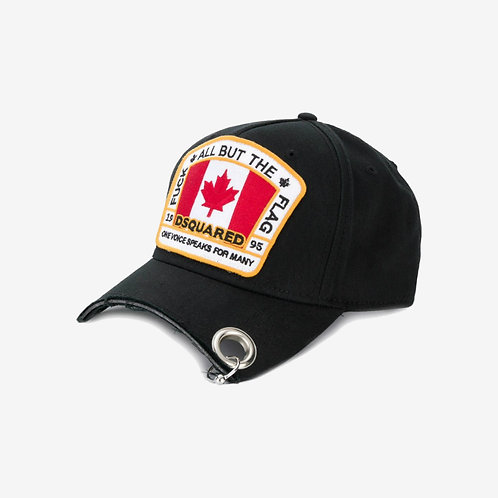 Dsquared2 Canadian Flag Patch Cap - Black