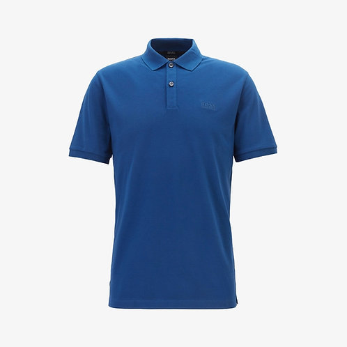 Boss 'Pallas' Pima Cotton Short-Sleeve Polo - Dark Blue