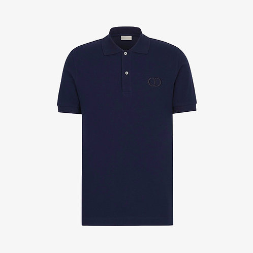 Dior 'CD Icon' Polo Shirt - Navy Blue