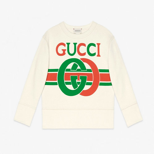 Gucci Kids Interlocking G Sweatshirt - Beige