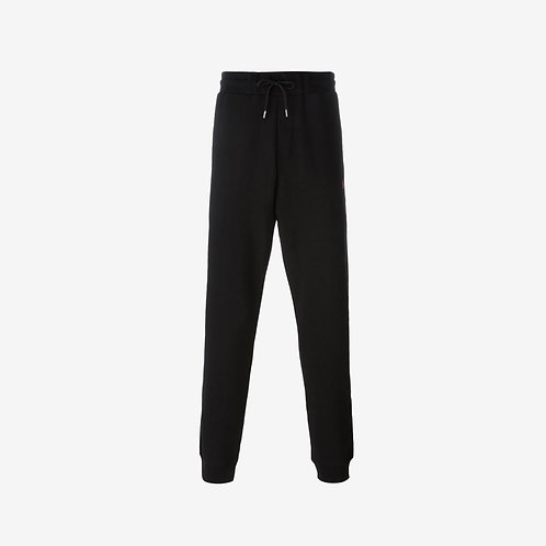 MCQ Swallow Classic Sweatpants with Pink Logo- Black