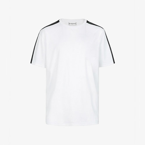 Givenchy Paris Contrasted Logo Tape T-Shirt - White
