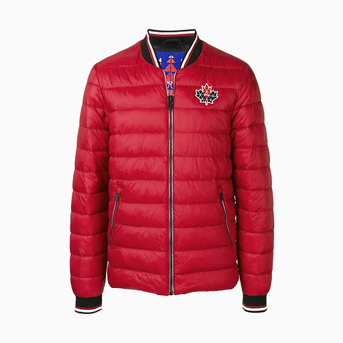 Moose Knuckles 'Beaugrand' Zipped Padded Bomber Jacket - Red