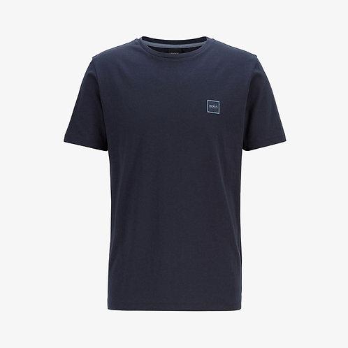 Boss 'Tales' Patch Logo T-Shirt - Navy