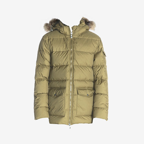 Pyrenex Authentic Mat Winter Jacket with Fur Olive Sale