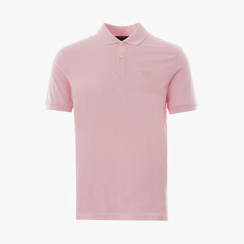 Boss 'Pallas' Pima Cotton Short-Sleeve Polo - Pink