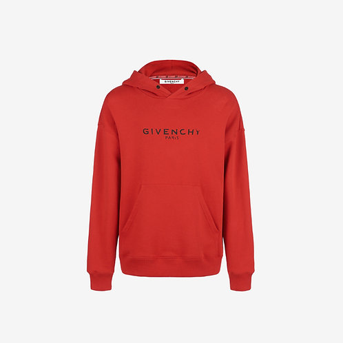 Givenchy Paris Vintage Regular Fit Hoodie - Red