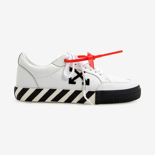 Off-White Vulcanised Leather Sneakers White and Black
