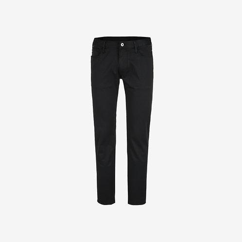 Emporio Armani Straight Leg Trousers Black New