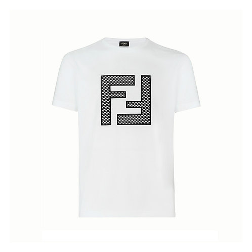 Fendi Mesh FF Logo T-shirt - White