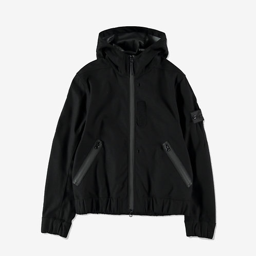 Stone Island Shadow Project Hooded SW 3L Overcoat Black