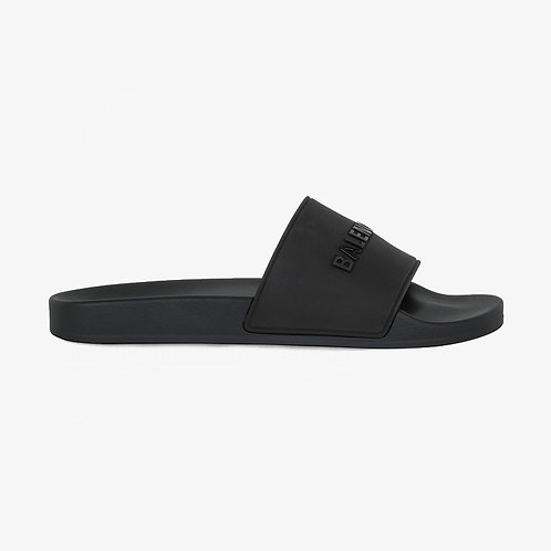 Balenciaga Pool Slide Sandals - Black