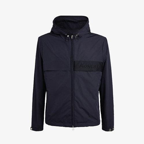 Moncler 'Benoit' Hooded Windbreaker Zip Jacket - Dark Blue