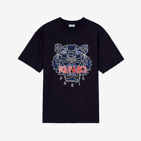 Kenzo Raised Tiger T-shirt - Black
