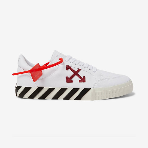 Off-White Low Vulcanised Sneakers White and Violet