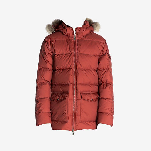 Pyrenex Authentic Mat Winter Jacket with Fur - Brick/Red