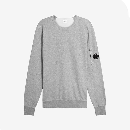 C.P. Company Garment Dyed Light Fleece Lens Sweatshirt Grey