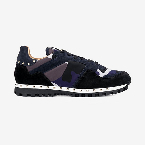 Valentino Rockstud Sneakers - Grey and Navy