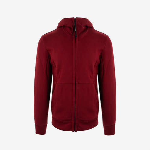C.P. Company Goggle Hooded Jacket - Red Burgundy