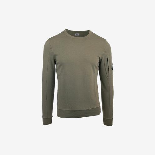 C.P. Company Autumn Winter 18 Light Fleece Lens Sweatshirt - Sage Green