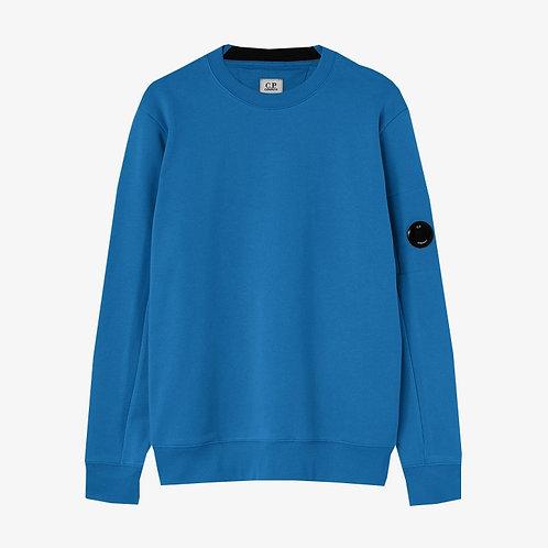 C.P. Company Diagonal Raised Fleece Lens Sweatshirt - Lyon Blue