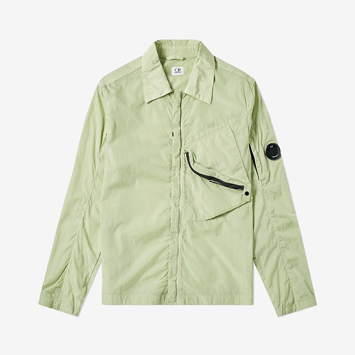 C.P. Company Chrome Shirt Jacket with Arm Lens - Pistachio Green