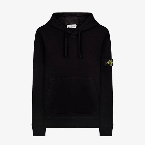 Stone Island Hooded Pullover Sweatshirt - Black