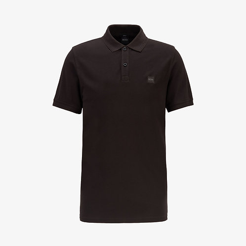 Boss 'Prime' Patch Logo Polo Shirt - Black