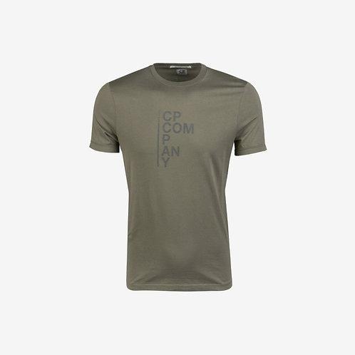 C.P. Company Mako Cotton Print Graphic T-Shirt - Khaki