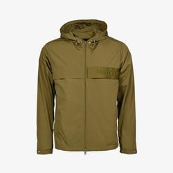 Moncler 'Benoit' Hooded Windbreaker Zip Jacket - Khaki Green
