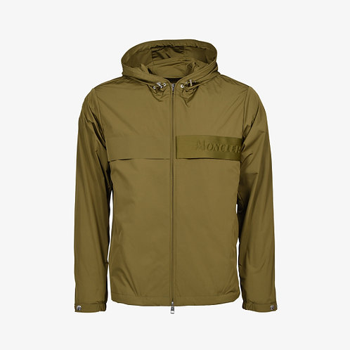 Moncler 'Benoit' Hooded Windbreaker Zip Jacket - Khaki Green