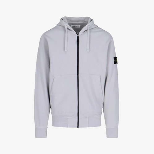 Stone Island Zip Sweatshirt/Hoodie - Grey/Light Lilac