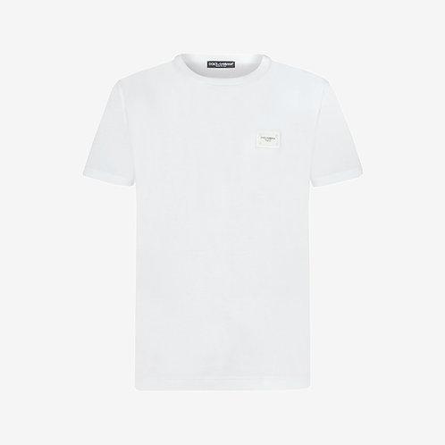 Dolce & Gabbana D&G Logo Plaque T-shirt - White